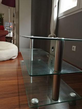 Mesa auxiliar cristal, para tv