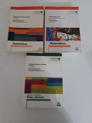 Libros Eduforma Matemáticas Fisica y Química
