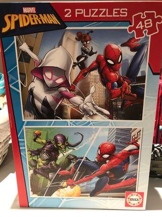 Dos puzzles de Spiderman-man