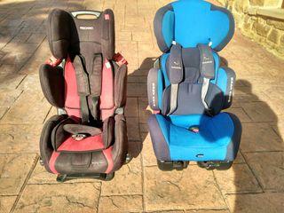 Sillas coche Recaro y Babyauto