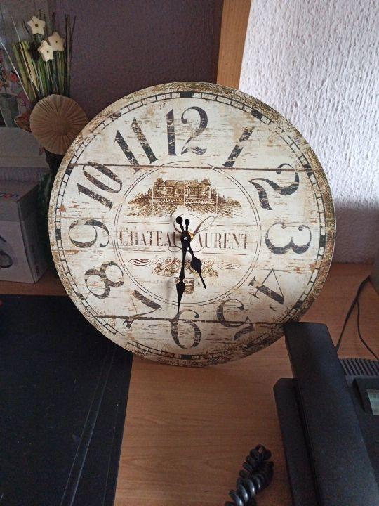 Reloj decoración madera