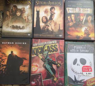 PELÍCULAS DVD ACCIÓN Y AVENTURAS