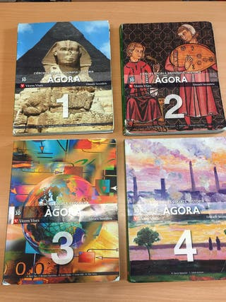 lote libros geografia i historia 1 2 3 4 ESO