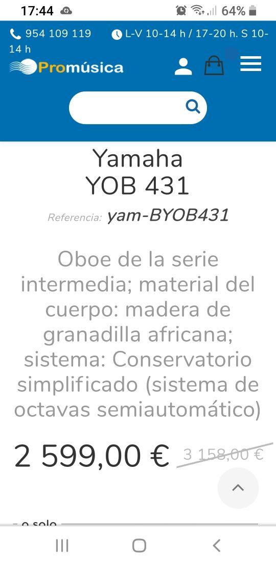 Oboe YAMAHA YOB-431M
