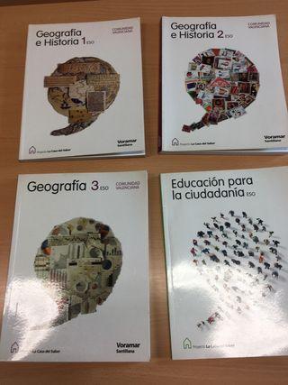 lote libros geografia e historia anaya 1 2 3 ESO
