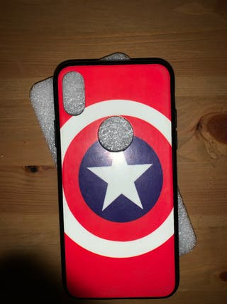 Funda iPhone X (10) Capitan América