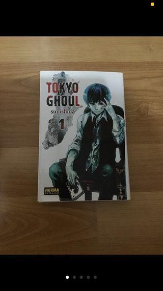 Mangas de Tokyo Ghoul 1 2 y 3