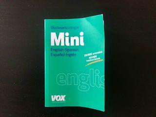 Mini diccionario inglés-español