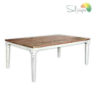Mesa rústica rectangular de madera