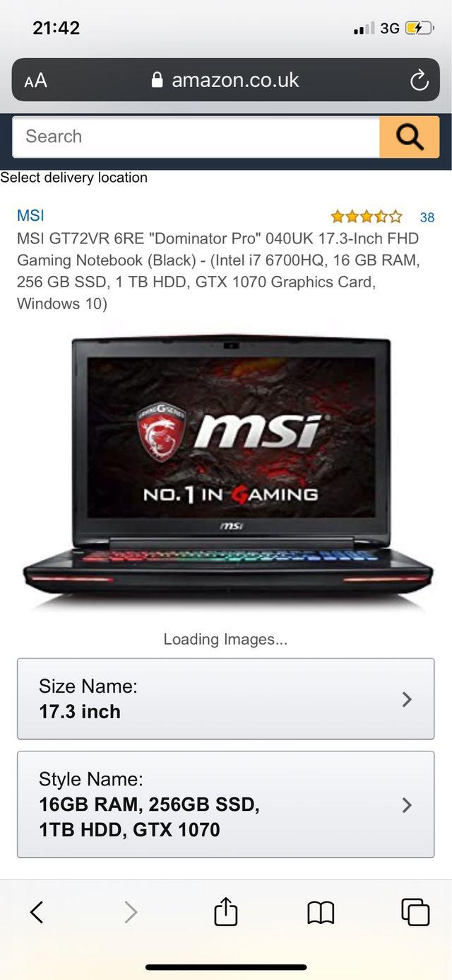 MSI GT72VR DOMINATOR PRO