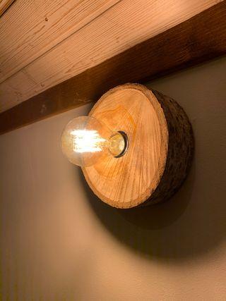 Lámpara madera