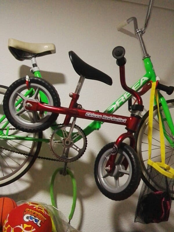 bicicleta infantil de tres años aproximadamente