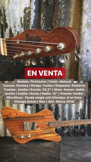 Guitarra Pardo * firecaste* fender gibson