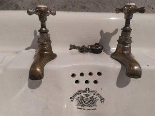 lavabo porcelana antiguo