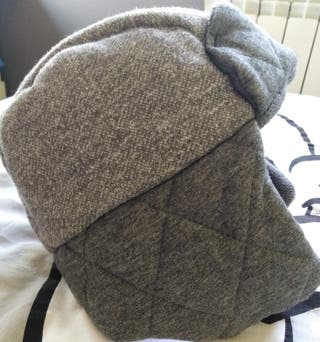 gorro aviador niño en color gris