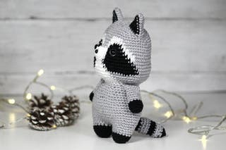 Handmade raccoon toy