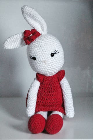 Handmade rabbit toy