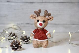 Handmade reindeer toy