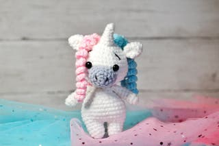 Handmade unicorn toy