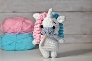 Handmade unicorn toy