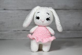 Handmade pink bunny toy