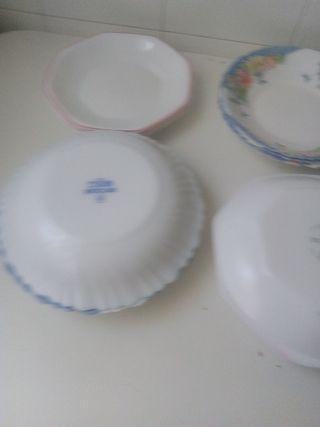 platós Arcopal como nuevos 6 de cada
