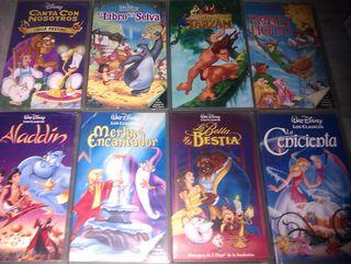 - lote 70 peliculas VHS infantiles-DISNEY-dibujos
