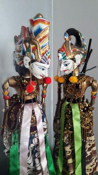Marionetas Ramayana Indonesia Java