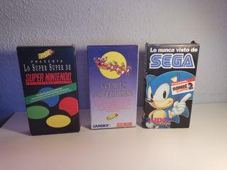 Lote VHS de colección Nintendo y SEGA