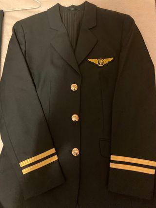 Disfraz piloto mujer talla S y pantalon 34