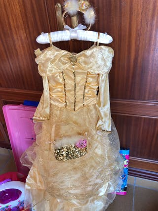 Disfra de Bella con corona de tienda Disney talla9