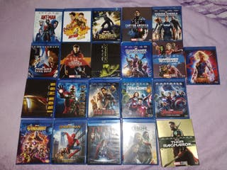 Lote primera fase Marvel Bluray (21 películas)