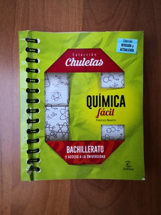 Chuletas QUÍMICA FÁCIL Espasa 1º2º Bachiller y PAU
