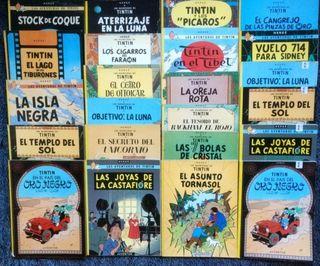 colección completa de 23 cómics de tintin