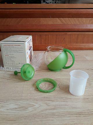 Jarra cafetera/ tetera de cristal microondas