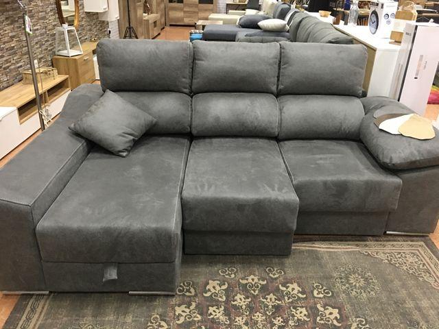 Sofá chaise-longue con arcón [LUCÍA]