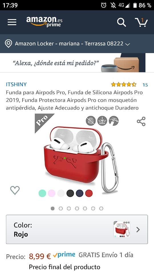 Funda para Apple Airpods Pro 2019