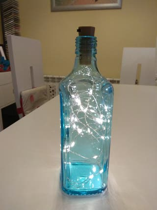 Botella decorativa luces led