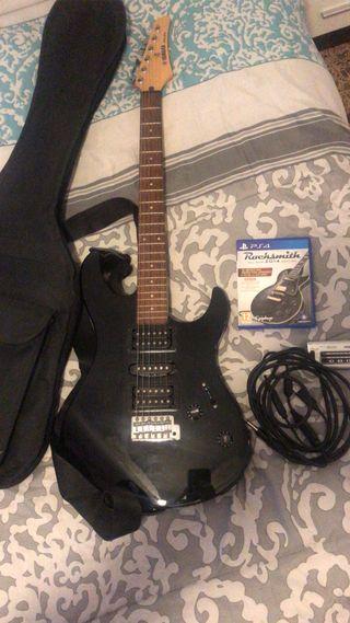 Guitarra eléctrica Yamaha ampli rocksmith y cable