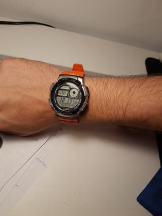 Reloj casio con mapa horario