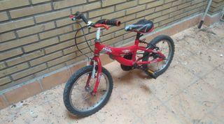 bicicleta de niño de 16 pulgadas