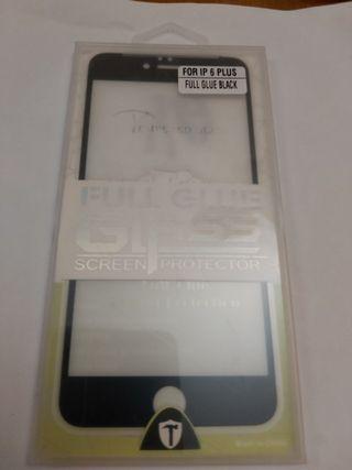 cristal templado borde negro iphone 6 plus