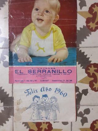 CALENDARIO DE PARED AÑO 1960