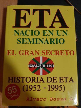 Libro ETA nació en un seminario. El gran SECRETO.