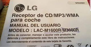 Vendo Radio Reproductor LG de CD y MP3 para coche