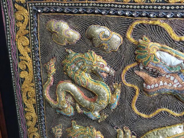Antiguo Tapiz Tailandés