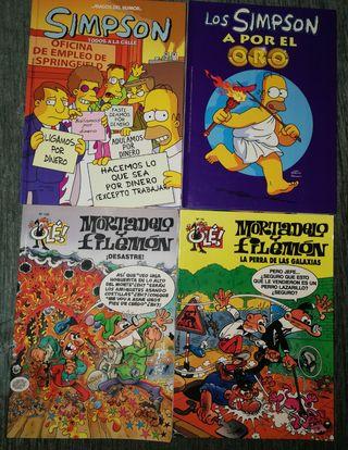 cómics de los Simpson y de Mortadelo y Filemón