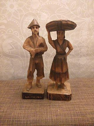 Figuras de madera tallada Teixeira