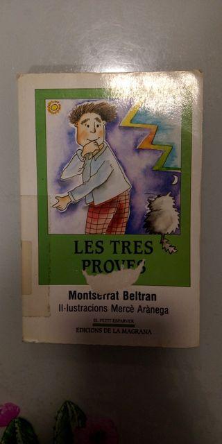 """LIBRO DE LECTURA """"LES TRES PROVES"""""""
