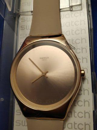 reloj swatch Skin Irony Rosa